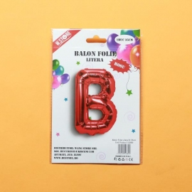 Balon Rosu Litera B PRT0053
