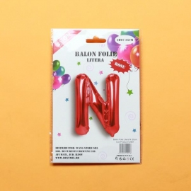 Balon Rosu Litera N PRT0065