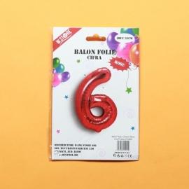 Balon Rosu Cifra 6 PRT0050