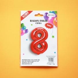 Balon Rosu Cifra 8 35cm 012922