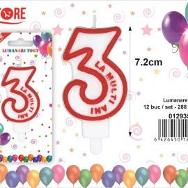 Lumanare Tort Cifra 3 PRT0273