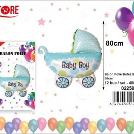 Balon Folie Carucior Albastru PRT0129