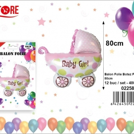 Balon Folie Carucior Roz PRT0128
