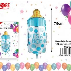 Balon Folie Biberon Albastru 75CM 022600