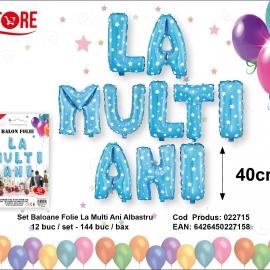 Balon Folie La Multi Ani Albastru PRT0135
