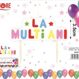 Lumanare Tort La multi Ani 9.2*5*1cm G597 023713