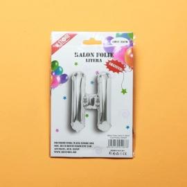 Balon Argintiu Litera H PRT0223