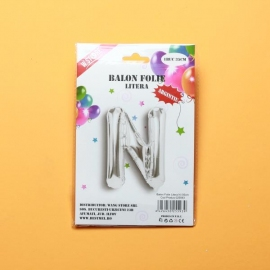 Balon Argintiu Litera N PRT0229