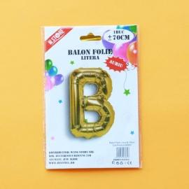Balon Folie Auriu Litera B 70cm 028931