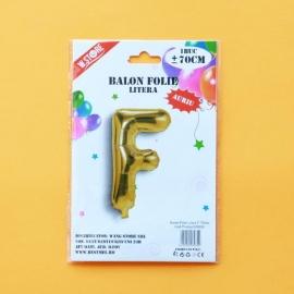 Balon Folie Auriu Litera F 70cm 028935