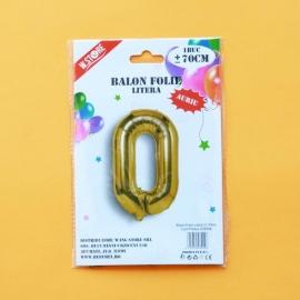 Balon Folie Auriu Litera O 70cm 028944