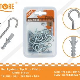 Set agatatori Tip C cu Filet + Diblu 5 mm BRI0069