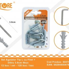 Set agatatori Tip L cu Filet + Diblu 3.8 cm BRI0057