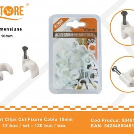 Set Clipsuri Cui Fixare Cablu 10 mm BRI0047