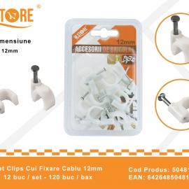 Set Clips Cui Fixare Cablu 12 mm BRI0155