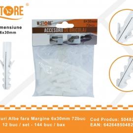 Set 72 Dibluri Fara Margine 6x30 mm BRI0153
