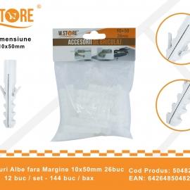 Set 26 Dibluri Fara Margine 10x50 mm BRI0154