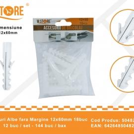 Set 18 Dibluri Fara Margine 12x60 mm BRI0152