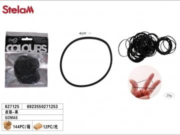 Set Elastice Negre 40mm 25G 627125
