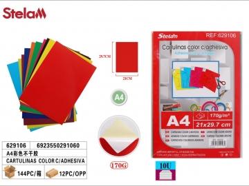 Set Hartie Colorata cu Adeziv 10buc A4 629106