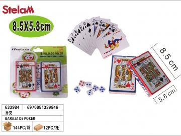 Set Carti de Joc 2buc cu Zaruri 633984