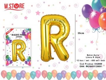 Balon Auriu Litera R 35cm 012869