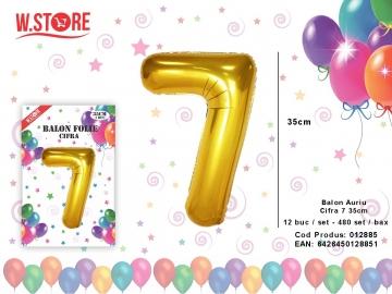 Balon Auriu Cifra 7 35cm 012885