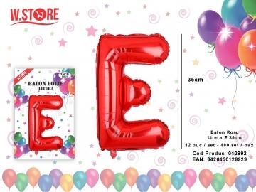Balon Rosu Litera E 35cm 012892