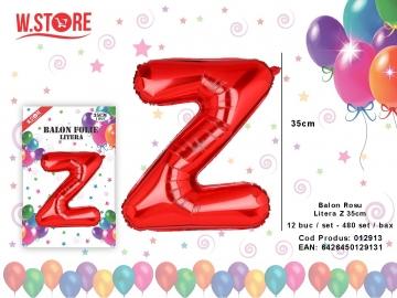 Balon Rosu Litera Z 35cm 012913