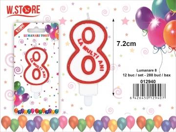 Lumanare Tort Cifra 8 PRT0268
