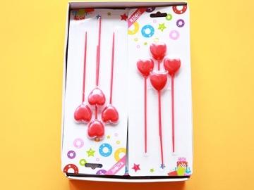 Set Lumanari Lungi Inima 4buc 012977