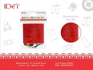 Banda pentru Tiv 2cmx2m Rosu 016052