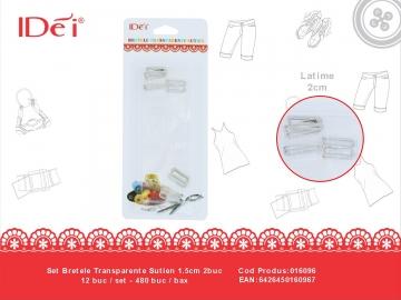 Set Bretele Transparente Sutien 1.5cm 2buc 016096