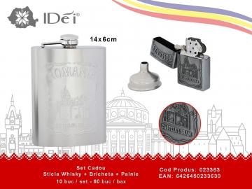 Set Cadou Sticla Whisky + Bricheta + Palnie 023363