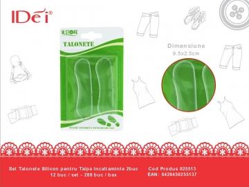 Pernute Silicon Transparente pentru Pantofi 2buc 025513