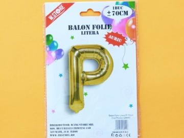 Balon Folie Auriu Litera P 70cm 028945