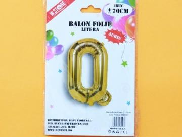 Balon Folie Auriu Litera Q 70cm 028946
