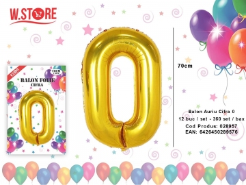 Balon Auriu Cifra 0 028957