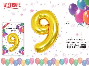 Balon Auriu Cifra 9 028966