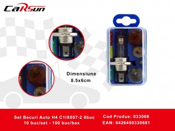 Set Becuri Auto H4 C1lX007-2 8buc 033068