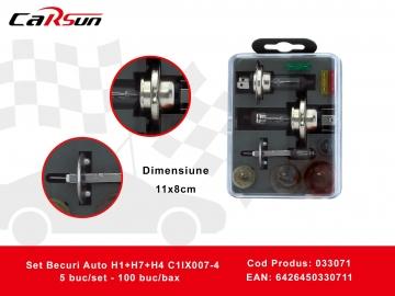 Set Becuri Auto H1+H7+H4 C1lX007-4 033071