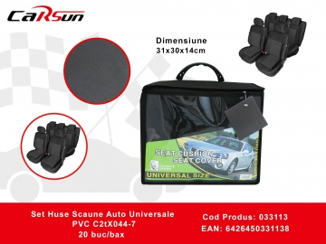 Set Huse Scaune Auto Universale PVC C2tX044-7 033113