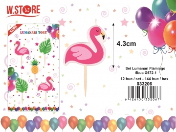 Set Lumanari Flamingo 5buc G672-1 033206