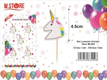 Set Lumanari Unicorn 5buc MLD02 033209