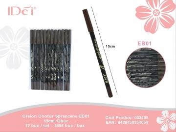 Creion Contur Sprancene EB01 15cm 12buc 033405