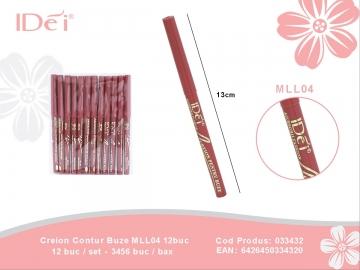 Creion Contur Buze MLL04 12buc 033432