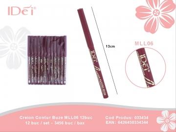 Creion Contur Buze MLL06 12buc 033434