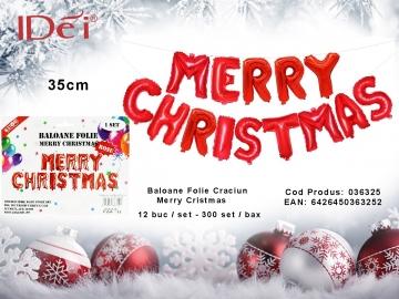 Baloane Folie Craciun Merry Cristmas 036325