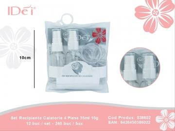 Set Recipiente Calatorie 4 Piese 35ml 10g 038602