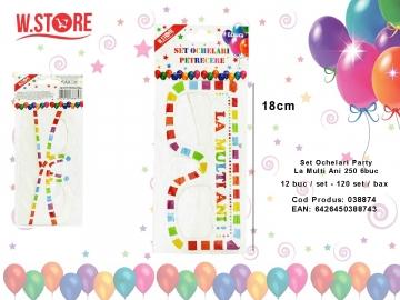 Set Ochelari Party La Multi Ani 250 6buc 038874